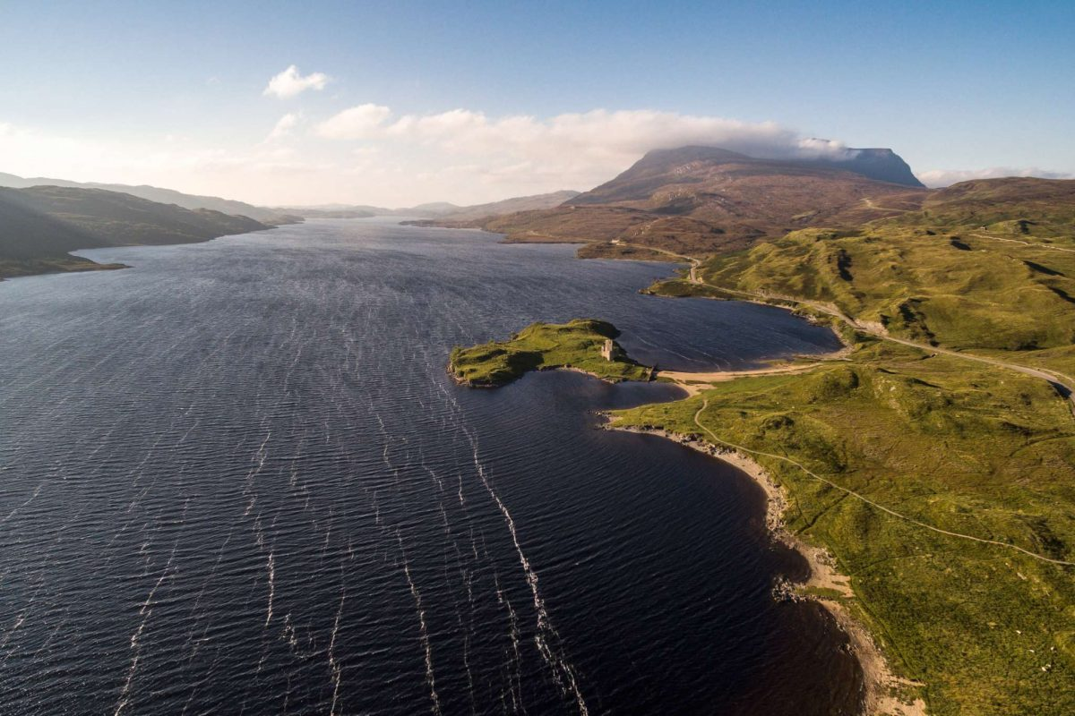 Loch Assynt and Ardvreck Castle, North West Highlands Geopark