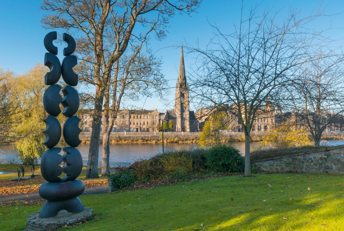 River Tay Public Art Trail in Perth - The Dance Within by Paul Eugene Riley