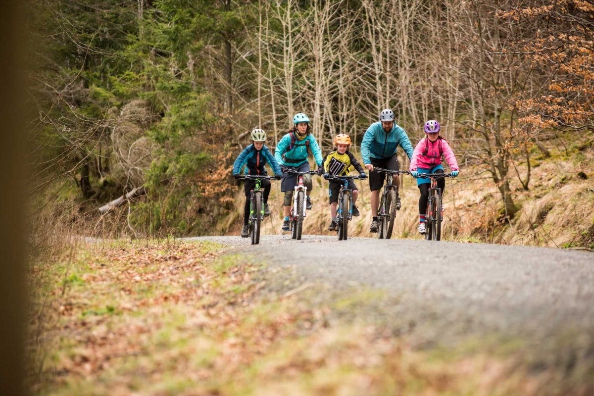 A family mountain bike outing at 7stanes Glentress