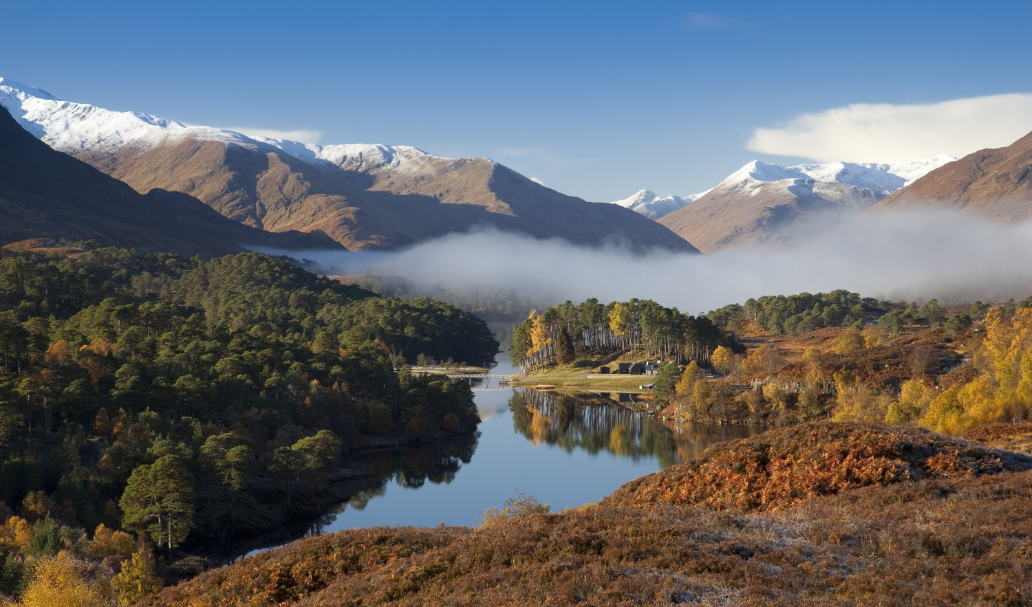 Glen Affric, often described as 'the most beautiful Glen in Scotland', near Inverness