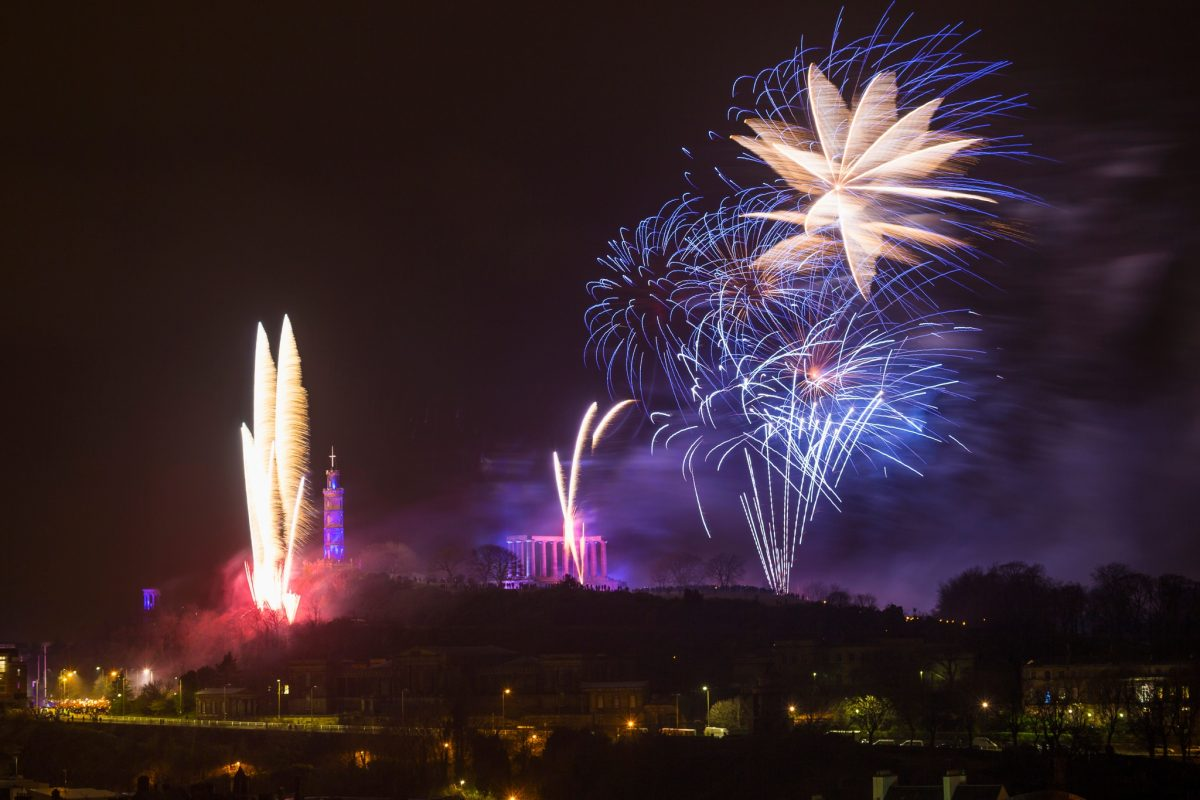 Hogmanay on Calton Hill, Edinburgh