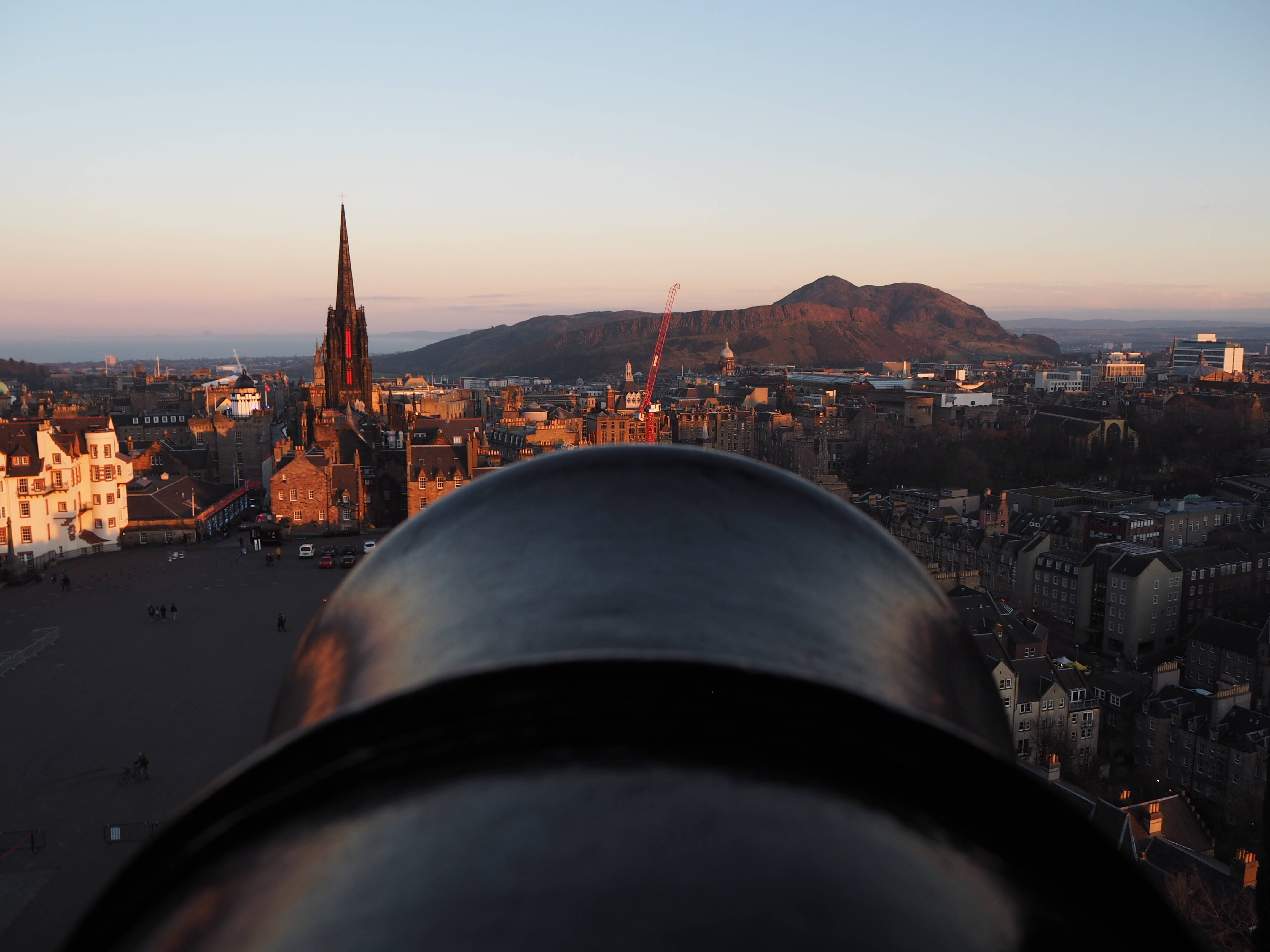 View from Edinburgh Castle over Mons Meg © Claire Ferguson