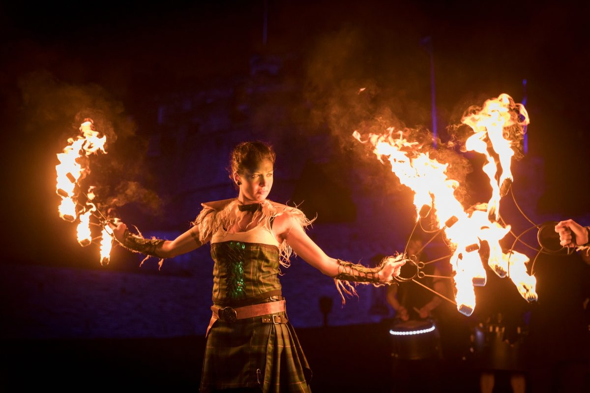 PyroCeltica who lead Edinburgh's Torchlight Procession down the Royal Mile.