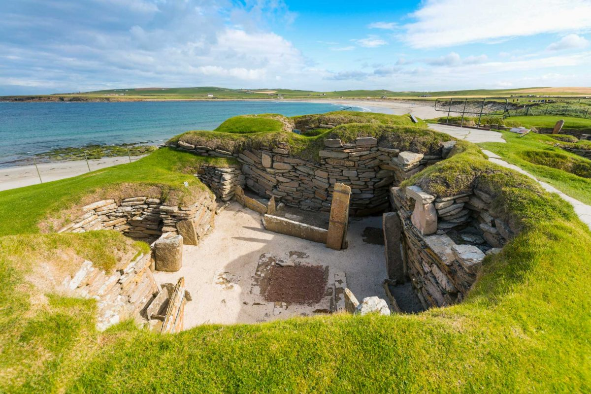 Skara Brae, part of the Heart of Neolithic Orkney by the Bay of Skaill