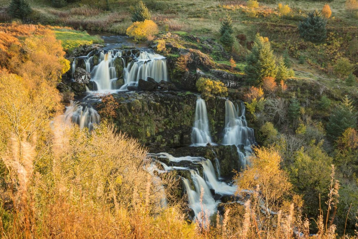 The Loup of Fintry falls near Fintry, Stirlingshire