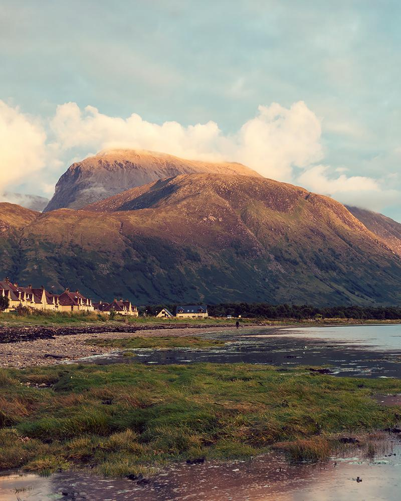 Ben Nevis, seen from the beach at Corpach