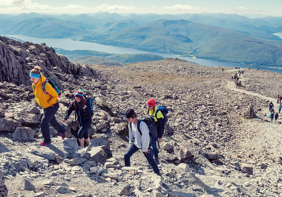 The Ben Nevis ascent, Highlands
