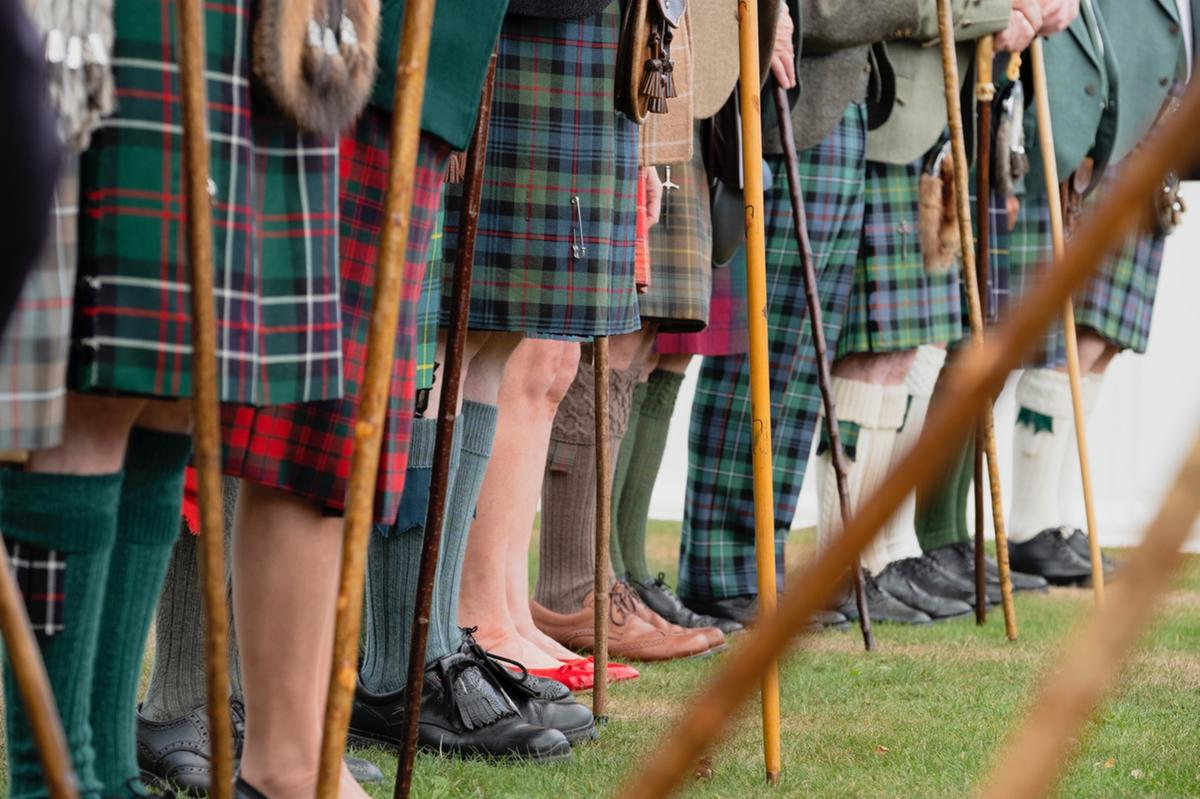 Clan leaders at Ballater Highland Games