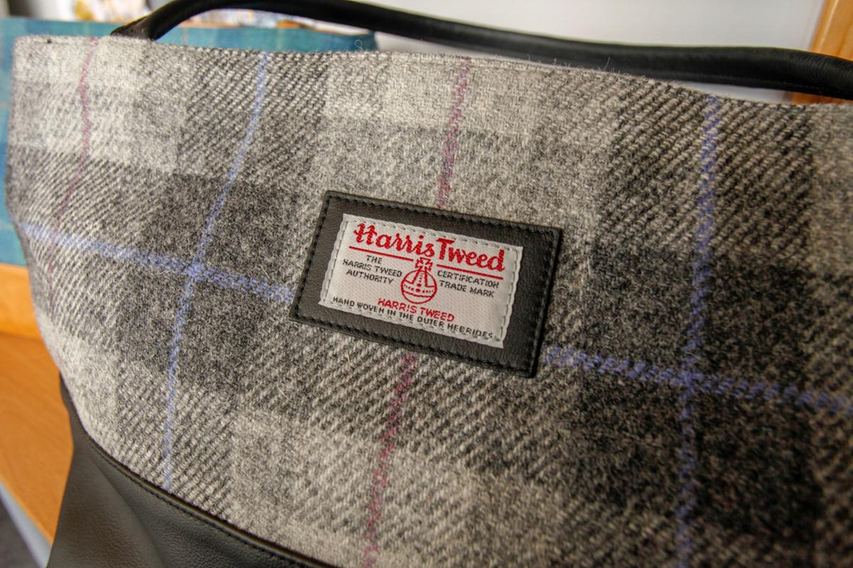 A bag made from Harris Tweed