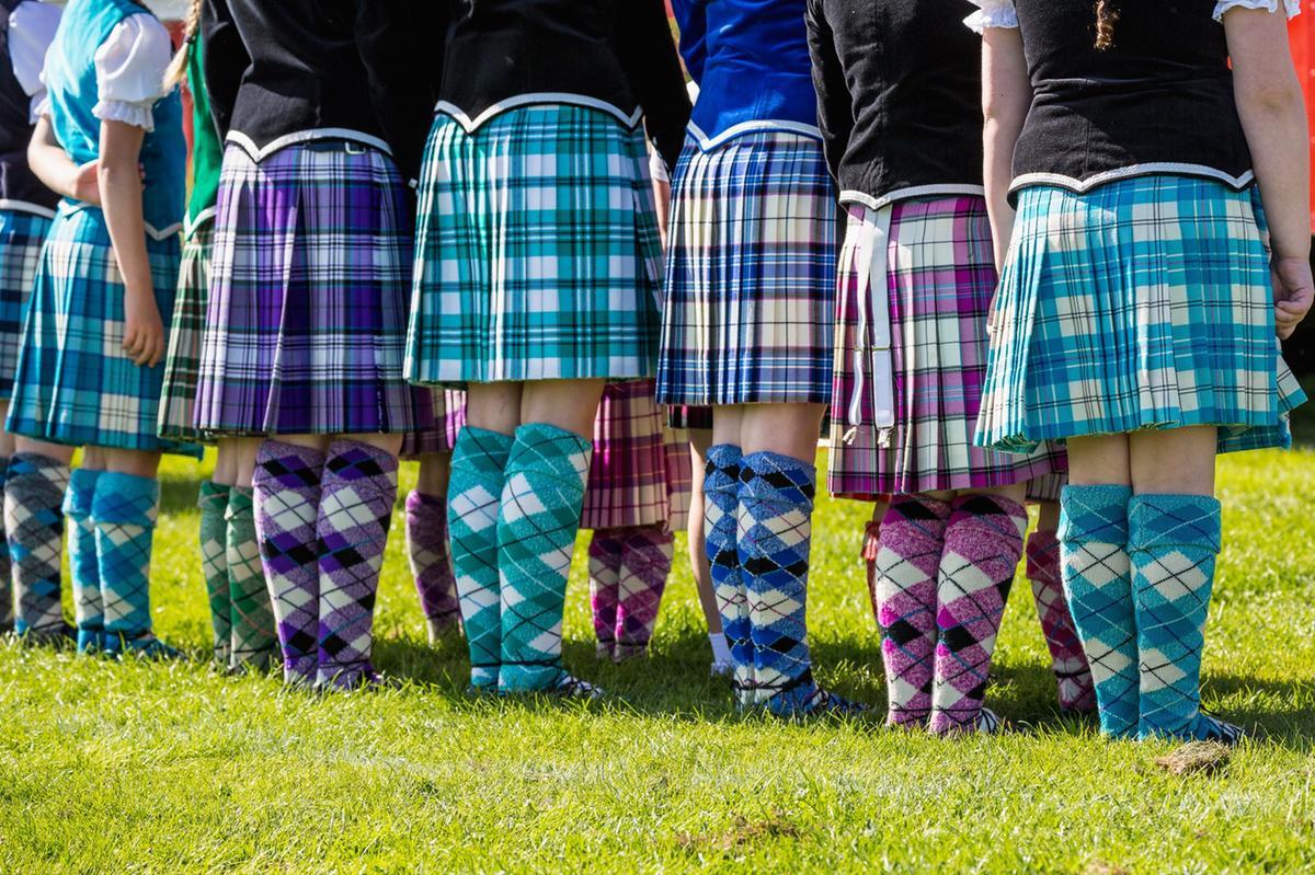 Highland dancers at North Berwick Highland Games