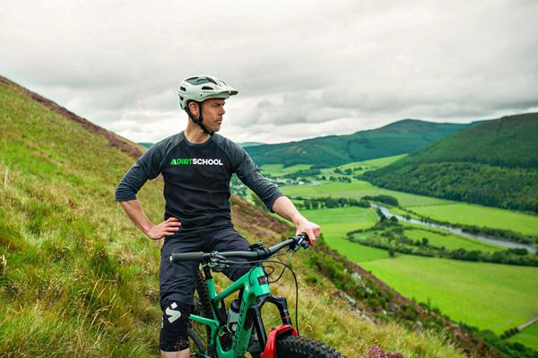 Andy Barlow, owner of Dirt School Mountain Bike Coaching based in the Scottish Borders