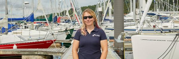 Hazel Pearson of Flamingo Yacht Charters based in Largs, Ayrshire