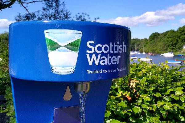 A Scottish Water Top Up Tap at Balmaha, Loch Lomond & The Trossachs National Park