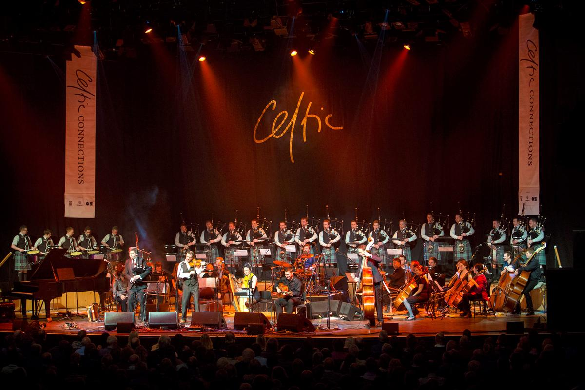 Band orchestra stage Celtic Connections