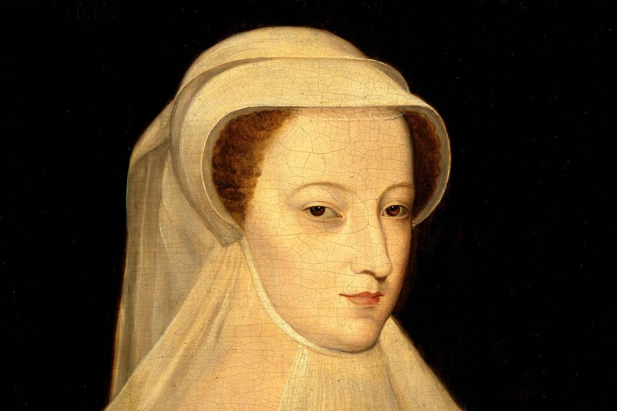 Mary Queen of Scots white veil portrait