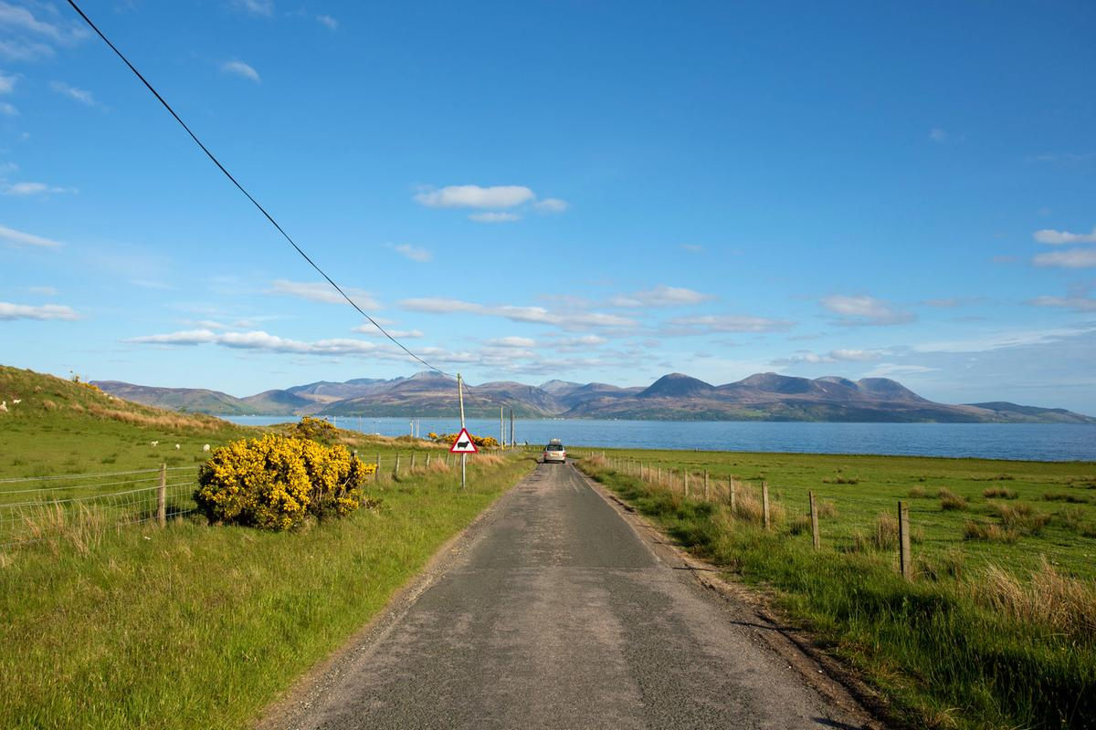 Road Skipness Arran background