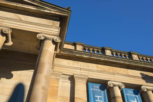 The exterior of the Scottish National Gallery in Edinburgh