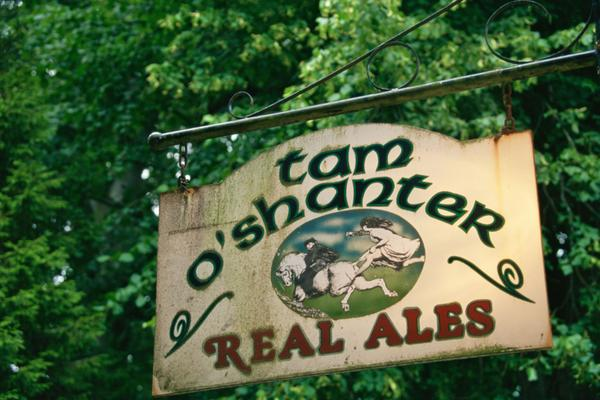 The Tam o' Shanter pub sign, Bellisle Park, Ayr
