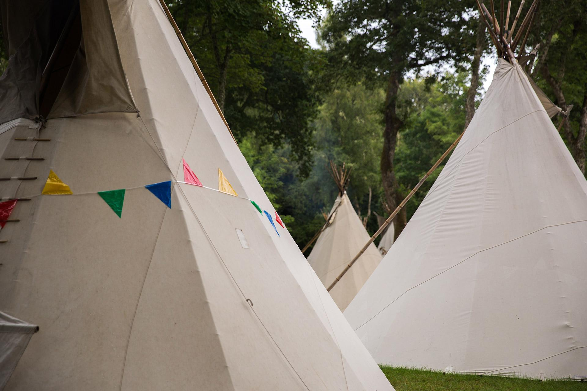 The VIP Tipi c&site at the Tartan Heart Festival on the Belladrum Estate near Inverness & Teepees u0026 wigwams | Glamping holidays | VisitScotland