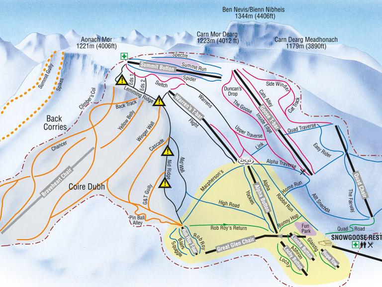 Fort Williams Scotland Map.Ski Conditions Snow Report Nevis Range Visitscotland