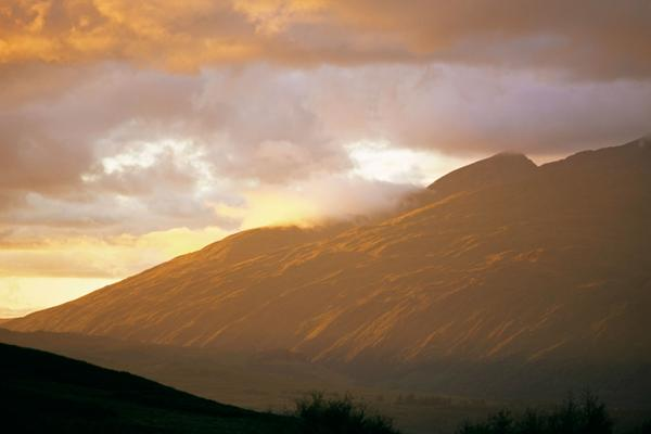 Ben Cruachan, a Munro under atmospheric light in Argyll