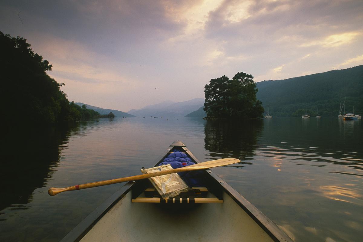 Canadian canoe at Kenmore, Loch Tay