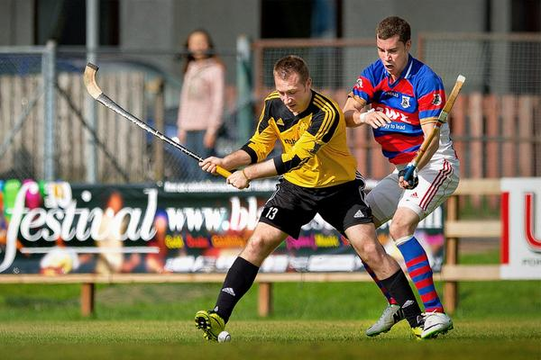 Kingussie v Fort William, Camanachd Cup halve finale gespeeld in An Aird, Fort William