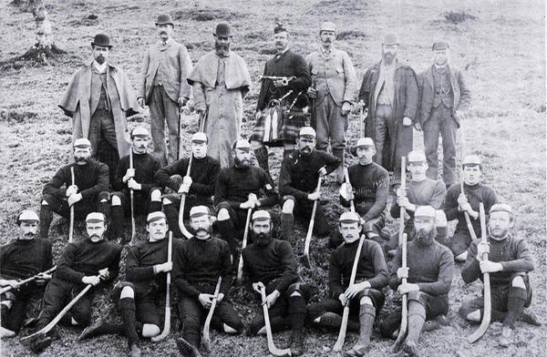 Insh Shinty Team (1892) - Image: Highland Folk Museum, High Life Highland