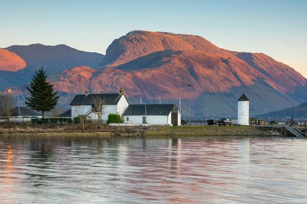 Ben Nevis, Corpach Sea Lock and Loch Eil, by Fort William, Lochaber