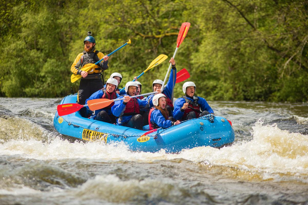 White water rafting in Perthshire as part of the 2015 Timex Expedition © Timex/AndrewMcCandlish