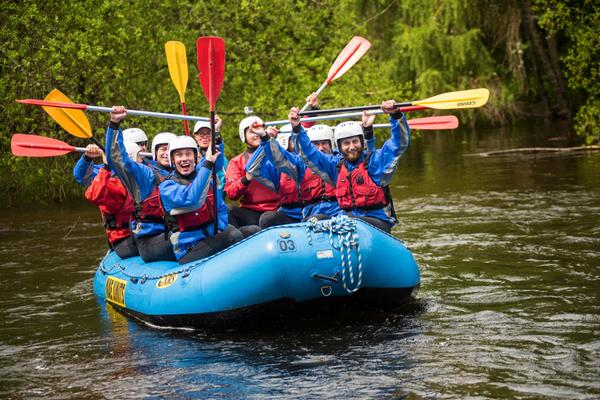 White water rafting in Perthshire as part of the 2015 Times Expedition © Timex/AndrewMcCandlish