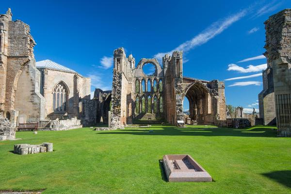 Elgin Cathedral, a historic attraction which participates the Ancestral Welcome Scheme, in Elgin, Moray