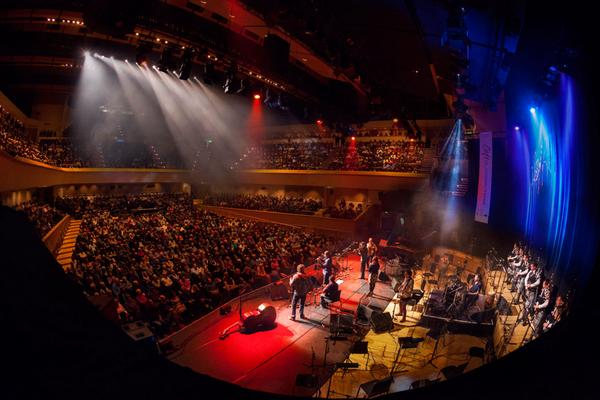 Een concert als onderdeel van Celtic Connections in de Glasgow Royal Concert Hall.