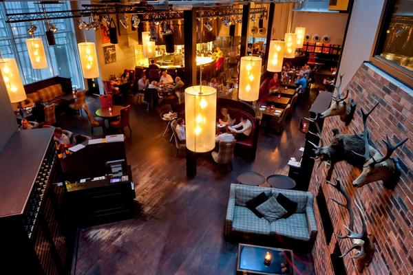 The Malmaison Brasserie in the Malmaison Hotel - also known as the Aberdeen Mal, Aberdeen
