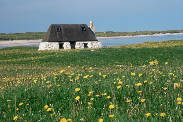A traditional croft on the Isle of Tiree, Inner Hebrides
