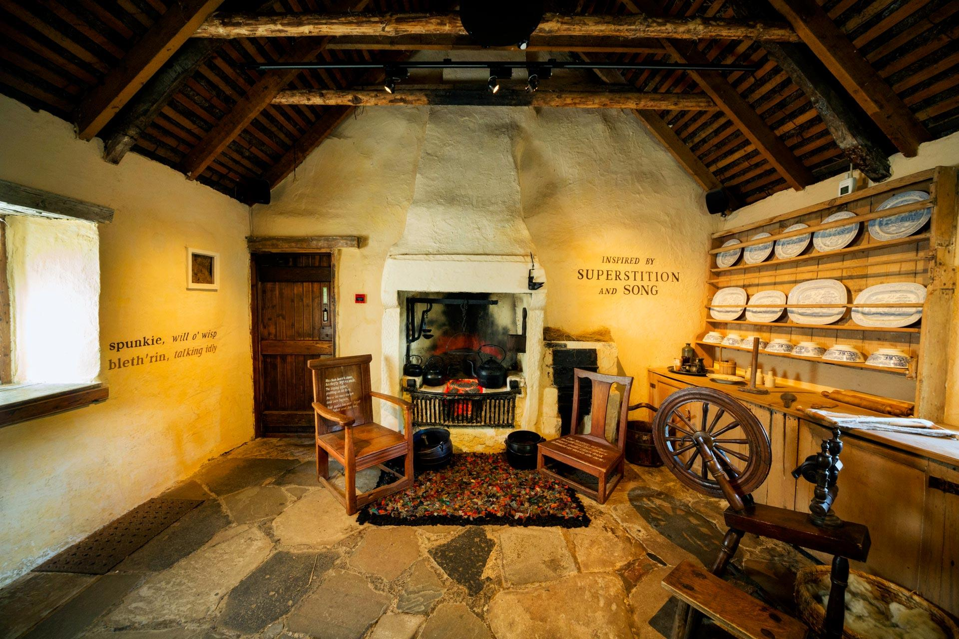 The Interior Of Burns Cottage Birthplace Robert Alloway South Ayrshire