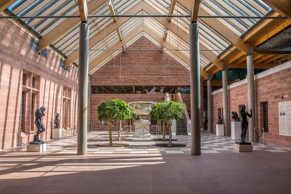 The courtyard inside the Burrell Collection in Glasgow