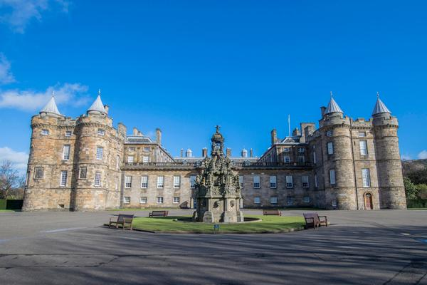 The exterior of the Palace of Holyroodhouse, Edinburgh