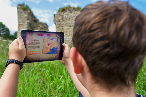 In the Footsteps of Kings app at Lochore Castle, Fife
