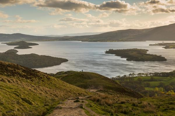 The view over Loch Lomond from Conic Hill