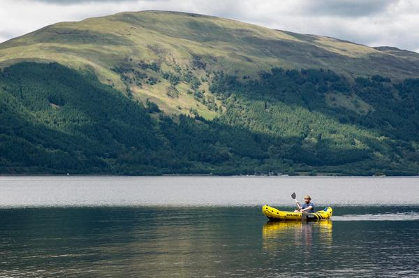 A kayaker on Loch Lomond