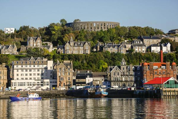 Oban town and McCaig's Tower