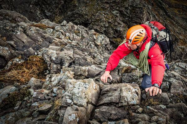 Climbing student partaking in a scrambling course © sportscotland / National Outdoor Training Centre / Glenmore Lodge