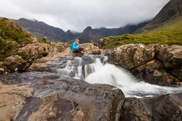 Misty skies over The Fairy Pools, Isle of Skye