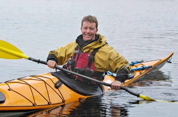 Sea Kayaking in Stornoway Harbour, Isle of Lewis, Outer Hebrides