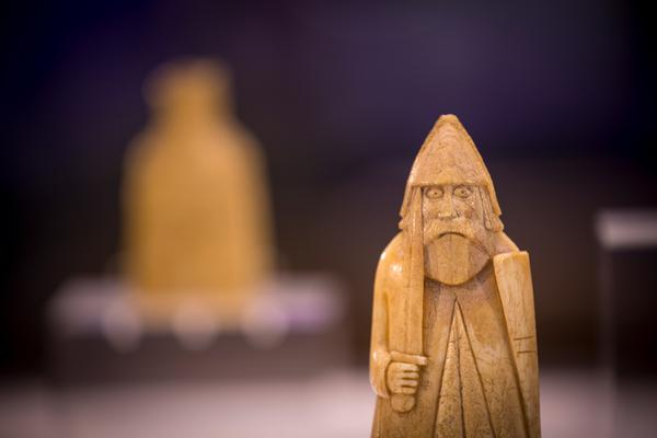 The Lewis Chessmen in Lews Castle Museum, Isle of Lewis