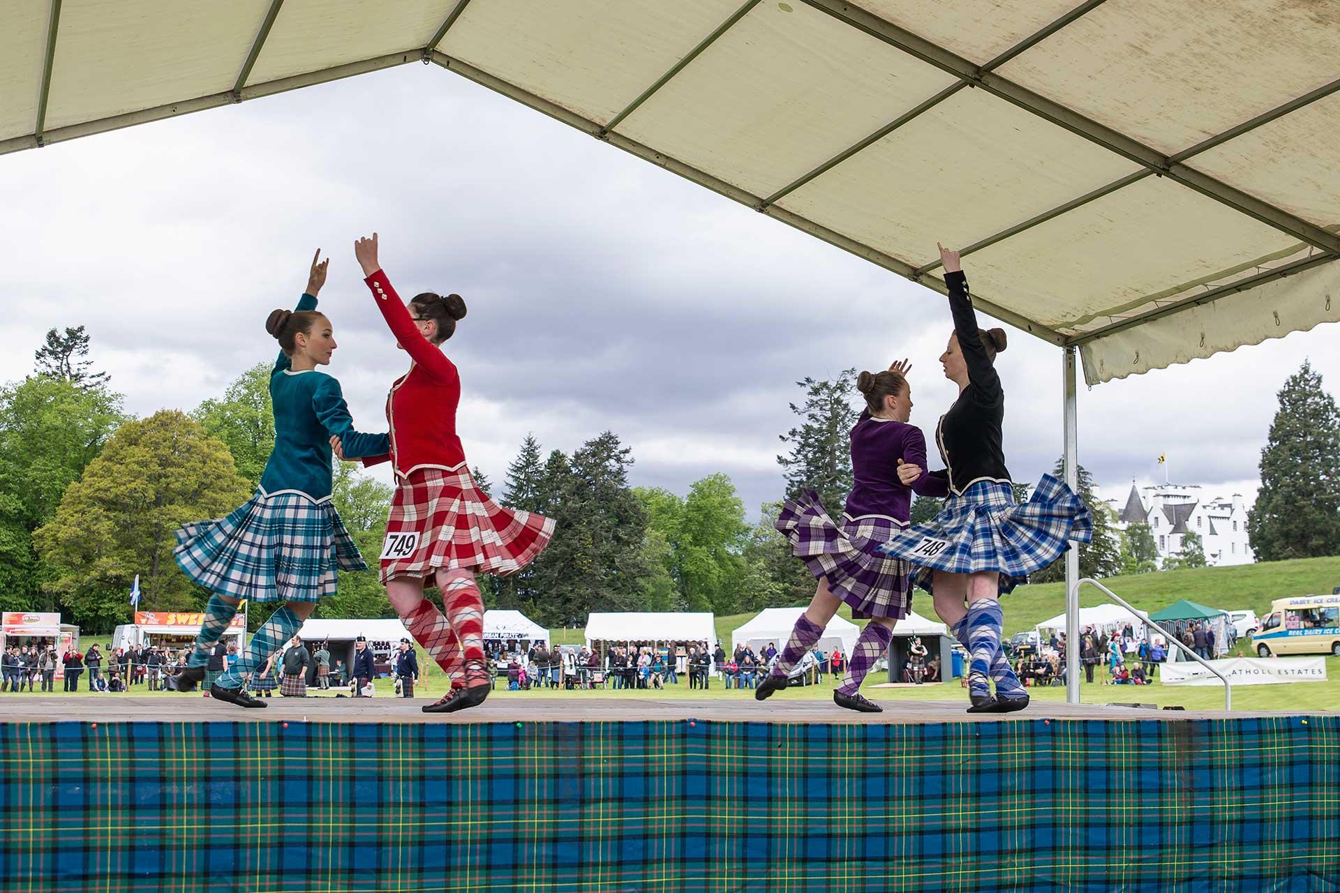 Danseurs Highland de Blair Atholl