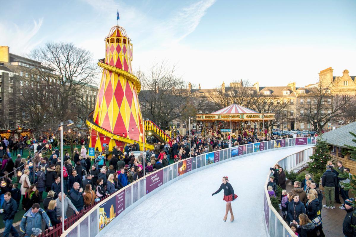 Ice Skating rink in Edinburgh - Christmas around the world
