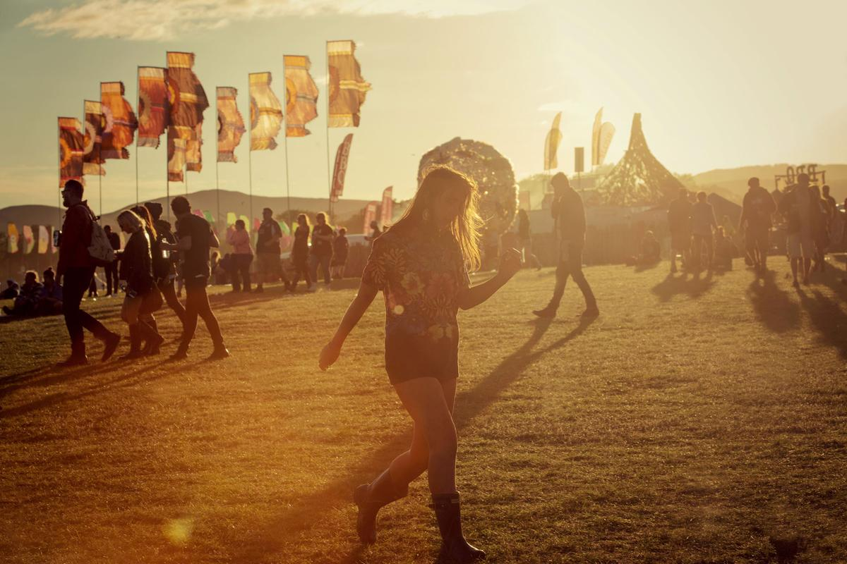 T In The Park at sunset