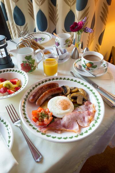 A Scottish breakfast served at the Croila Guest House, South Ayrshire